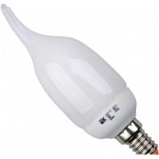 Лампа люминисцентная КЭЛ-CВ Е14 9Вт 2700К ПРОМОПАК 6 шт свеча IEK
