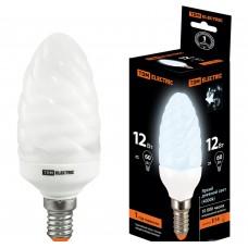 Лампа люминисцентная КЛЛ-СT-11 Вт-4000 К–Е14 TDM (витая свеча) (mini)