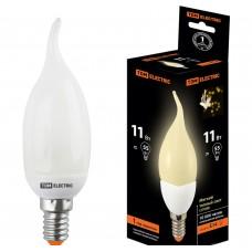 Лампа люминисцентная КЛЛ-СW-11 Вт-2700 К–Е14 TDM (свеча на ветру) (mini)