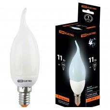 Лампа люминисцентная КЛЛ-СW-11 Вт-4000 К–Е14 TDM (свеча на ветру) (mini)