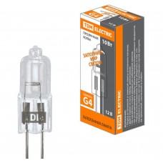 Галогенная лампа капсульная галогенная JC - 10Вт - 12В - G4 прозрачная TDM