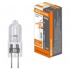 Галогенная лампа капсульная галогенная JC - 50 Вт - 12 В - GY6.35 прозрачная TDM