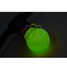 Лампа шар ?45 3 LED е27 ЗЕЛЕНАЯ NEON-NIGHT