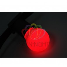 Лампа шар DIA 45 3 LED е27 КРАСНАЯ NEON-NIGHT