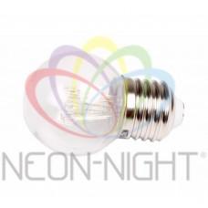 Лампа шар LED е27 ?45, 6 красных светодиодов, эффект лампы накаливания, прозрачная колба. NEON-NIGHT
