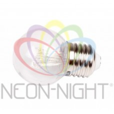 Лампа шар LED е27 ?45, 6 желтых светодиодов, эффект лампы накаливания, прозрачная колба. NEON-NIGHT