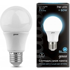 Светодиодная лампа LED A60 E27 7W 4100K 1/40 Gauss