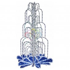 LED фонтан, высота 2.8, диаметр 1.8 метра (с контроллером) Синий NEON-NIGHT