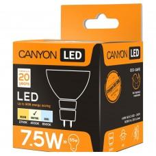Светодиодная лампа MRGU53/8W230VN60 LED lamp, MR shape, GU5.3, 7.5W, 220-240V, 60°, 594 lm, 4000K, Ra>80, 50000 h CANYON