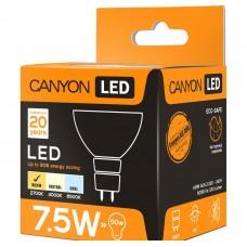 Светодиодная лампа MRGU53/8W230VW60 LED lamp, MR shape, GU5.3, 7.5W, 220-240V, 60°, 540 lm, 2700K, Ra>80, 50000 h CANYON