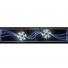 Световое панно NEON-NIGHT 2 снежинки размер 250*50см 501-360
